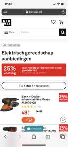 25% korting plus tot €30 cashback op Black & Decker