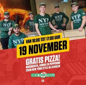 Gratis pizza New York Pizza Ede