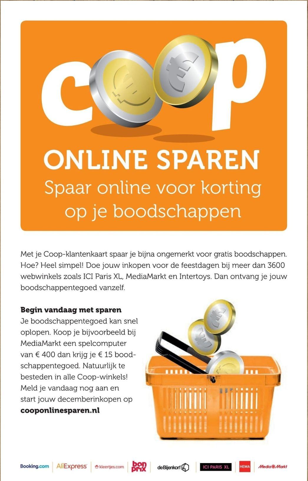 Online sparen voor Coop-voucher @ cooponlinesparen.nl
