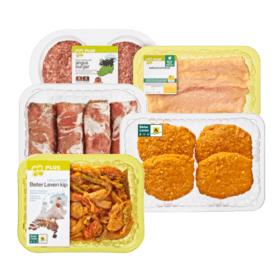 MidWeekvoorraadje 3 stuks rundvlees kip of kalkoen @plus.nl