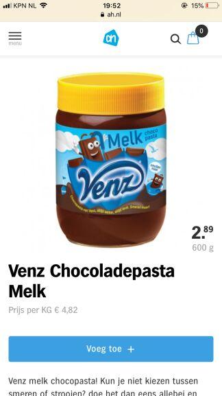 (lokaal) Venz chocolade pasta
