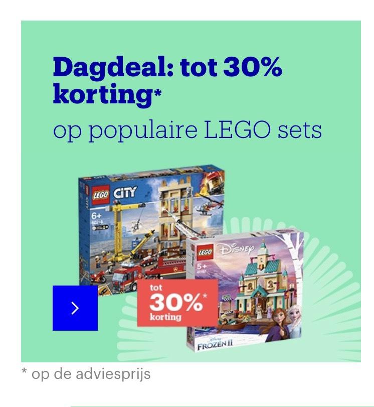 30% korting op populaire lego sets