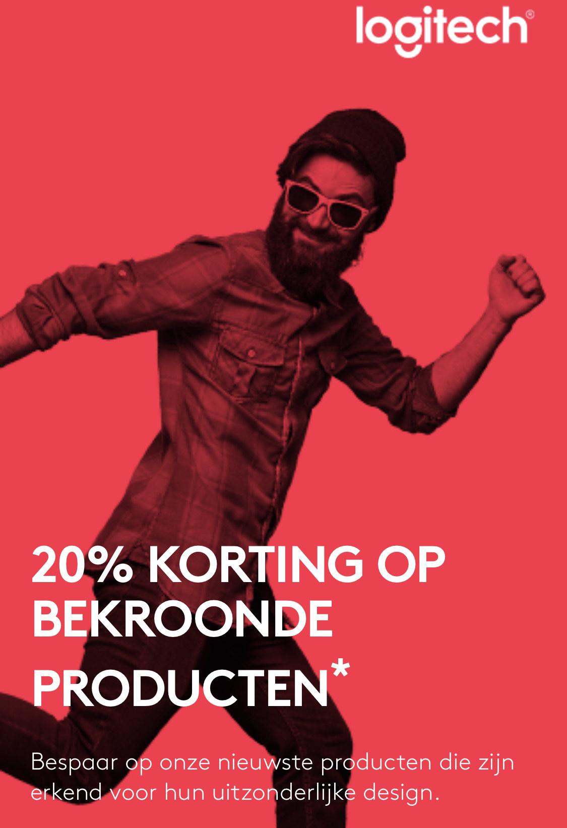 20% korting op geselecteerde Logitech producten