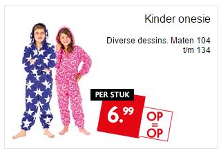 Kinder onesie €6,99 @Dekamarkt