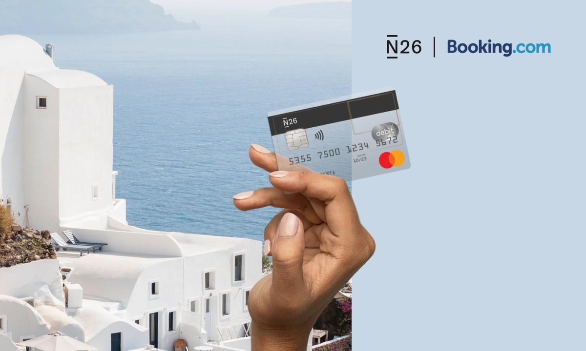 Tot 10% cashback bij Booking.com met N26