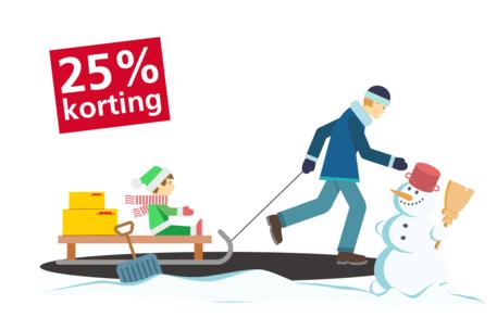 DHL pakket versturen met 25% korting
