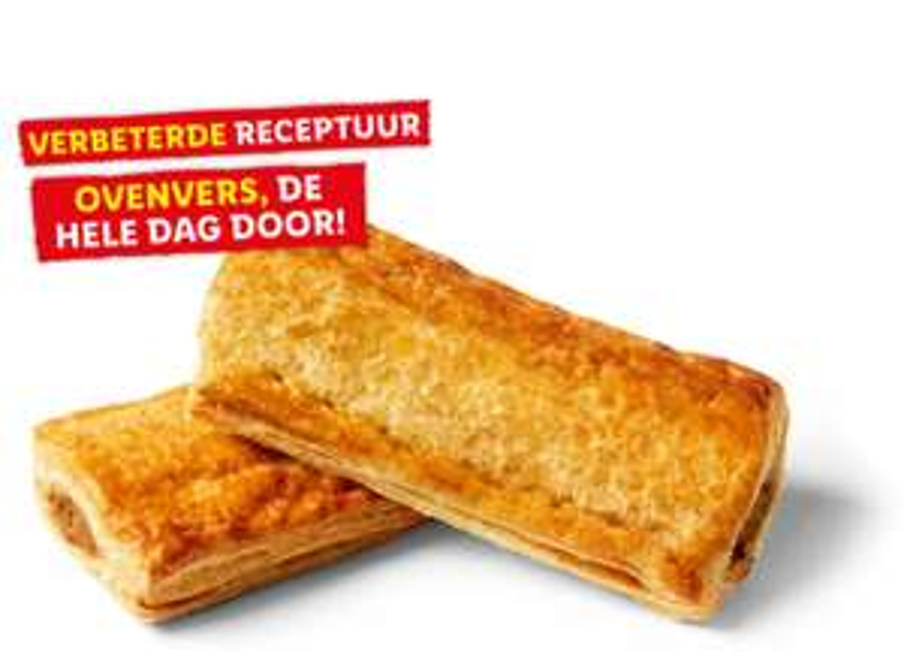 2x Saucijzenbroodjes voor 1 eur. -33%.