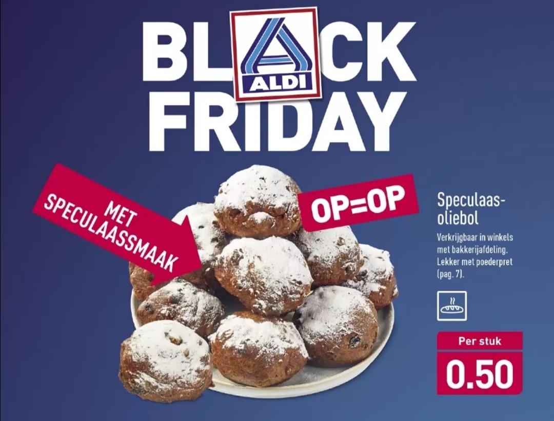 [Black Friday] Nieuwe Speculaas oliebol voor €0,50 per stuk @ Aldi