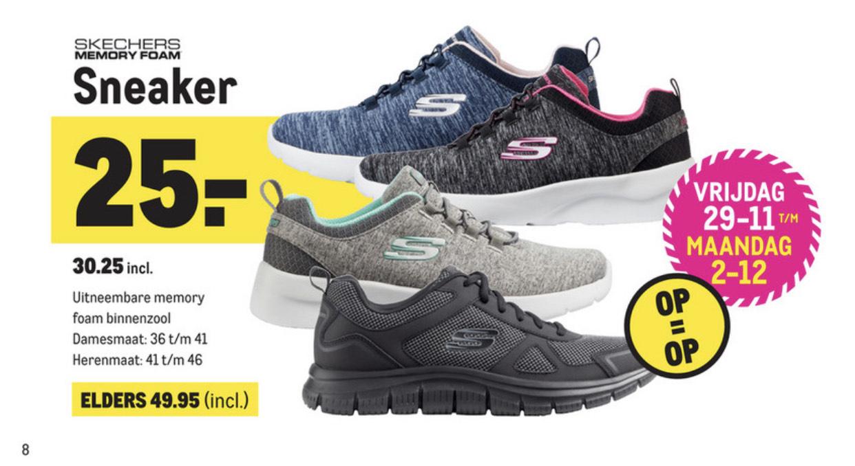 Skechers voor 25,- excl bij Makro in de black friday deal