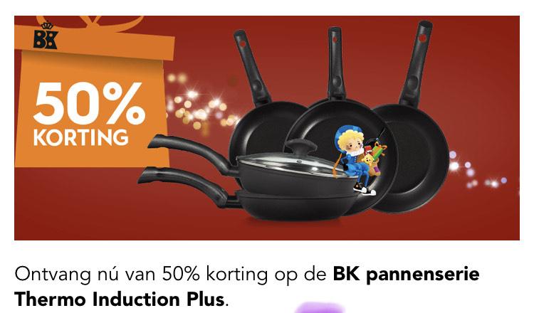50% korting op de BK Pannenserie    Blokker