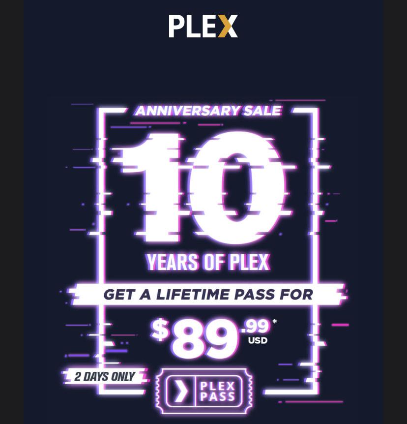 25% korting op een levenslang Plex abonnement