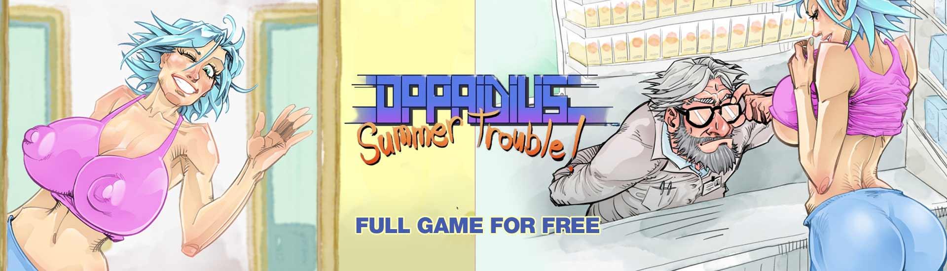 Gratis game Oppaidius Summer Trouble! @Indiegala