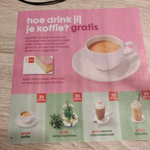 Gratis koffie, thee of Chocomel @Hema
