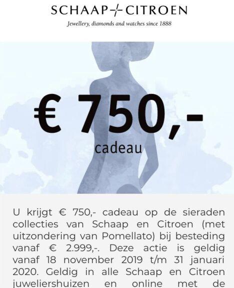 € 750,- cadeau bij besteding van € 2.999 @Schaap -/- Citroen