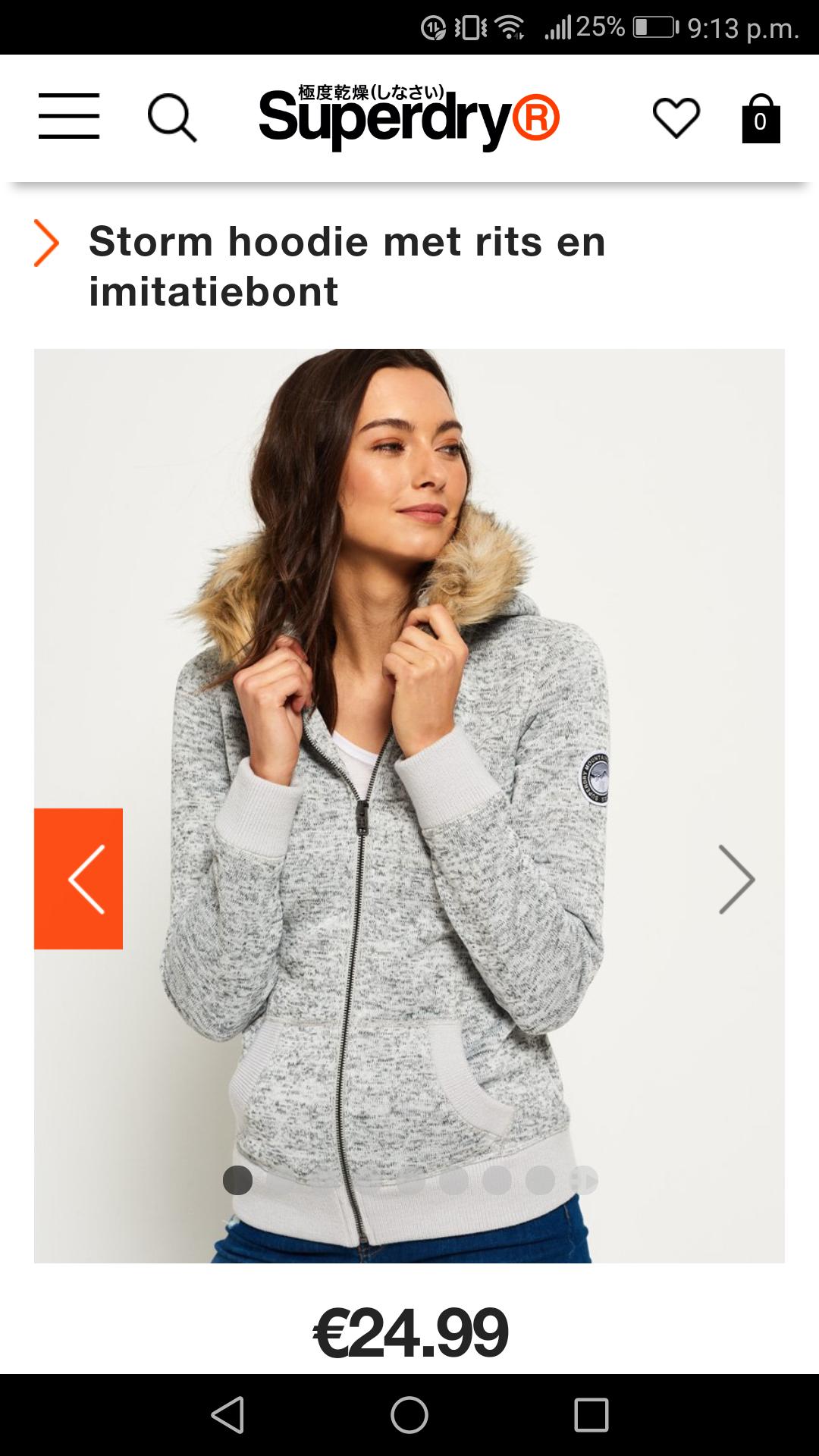 Superdry Storm hoodie maat XS, S,