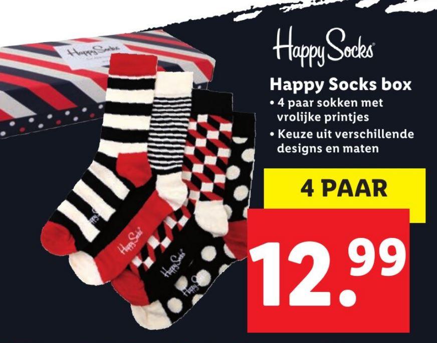 Black Friday: Lidl Happy Socks 4 paar voor €12,99 vanaf 29 november