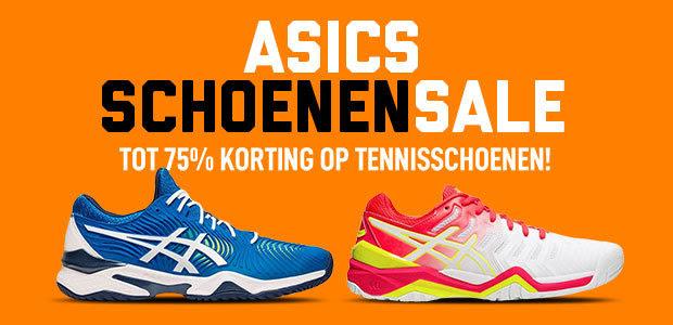 ASICS schoenensale bij Tennisdirect TOT 75% KORTING!