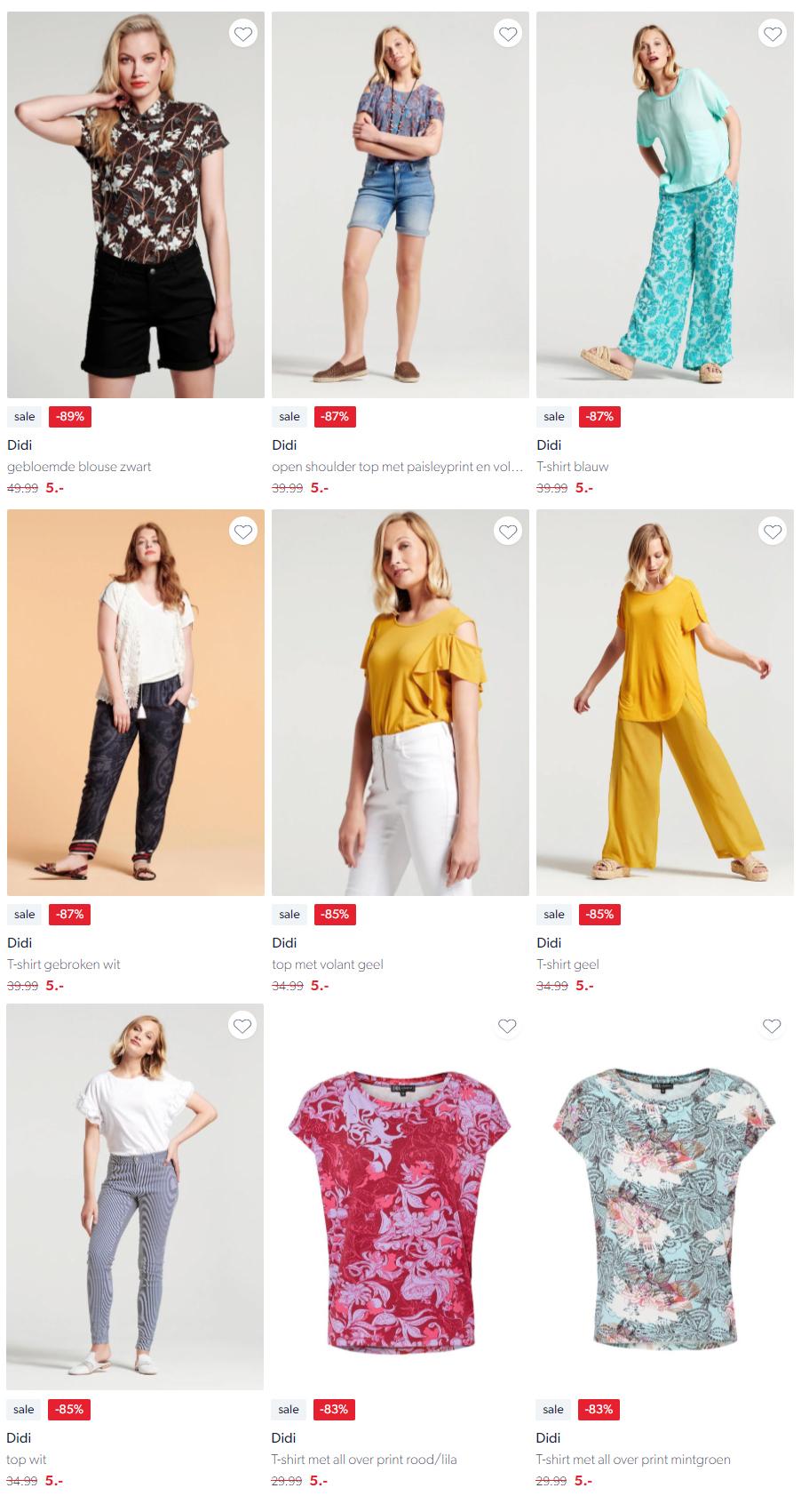Diverse DIDI kleding €5 p.s. (tot -89% korting) @ Wehkamp