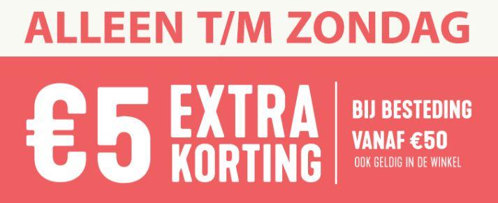 Actie: €5 euro extra korting (va €50) @ Holland & Barret