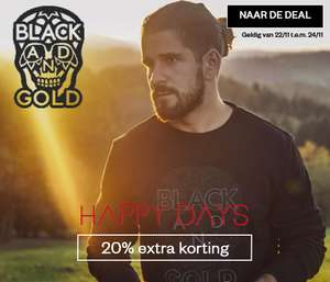 Black and gold herenmode 50%-70% korting + 20% extra @ Maison Lab