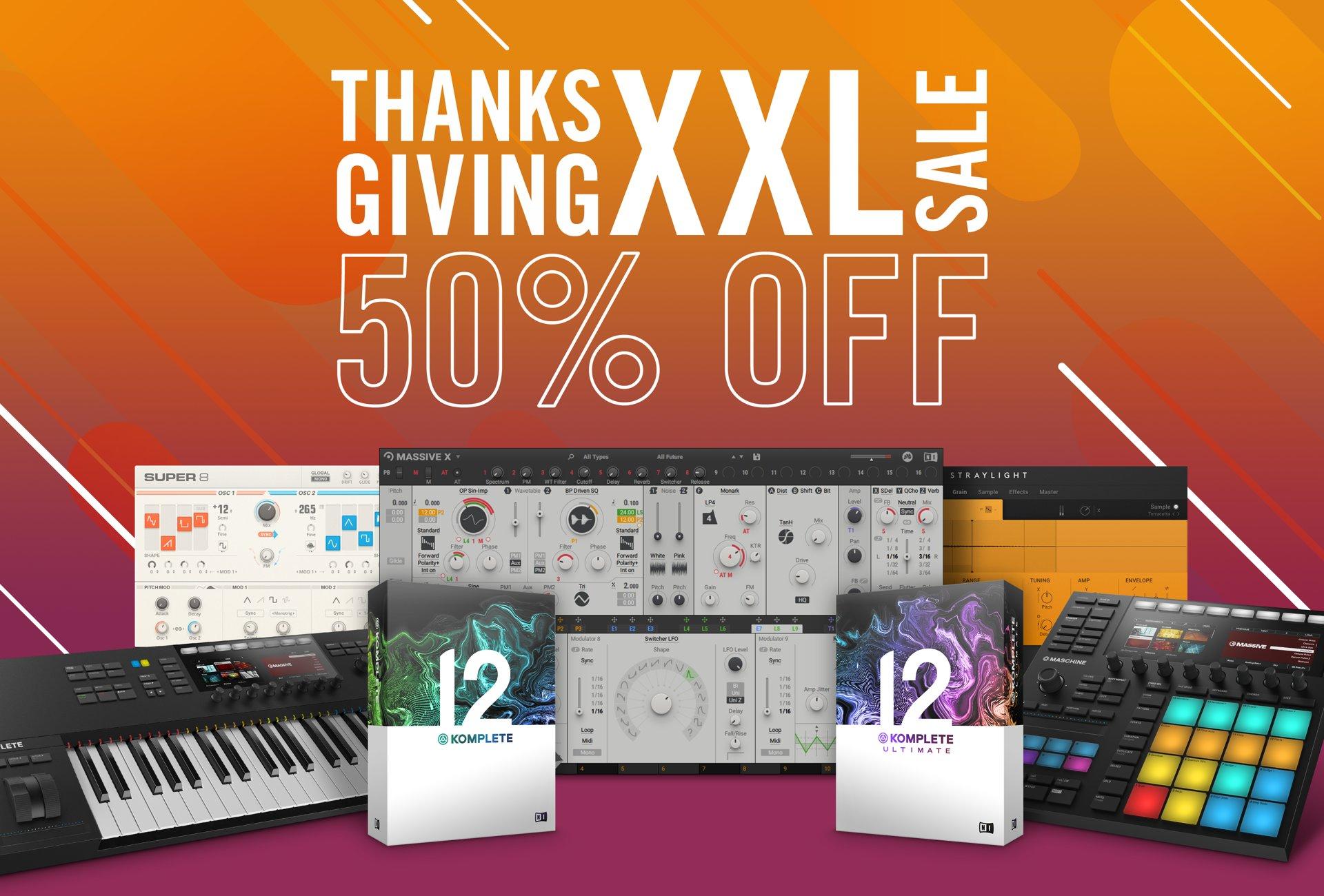 50% korting op veel artikelen (software & hardware) bij Native Instruments