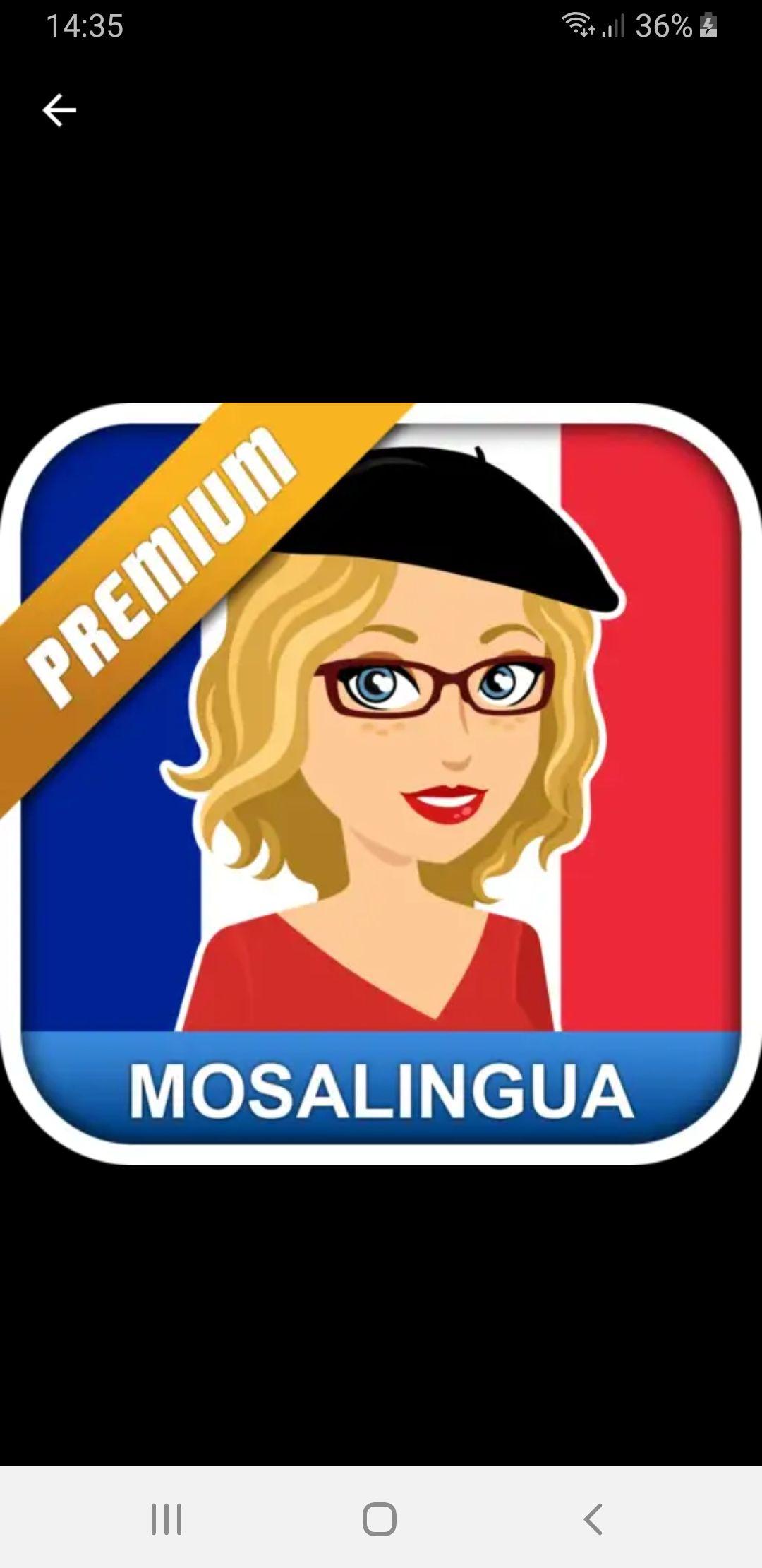 Google Playstore Gratis Mosalingua Frans Premium