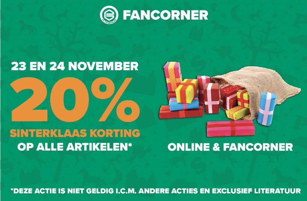 20% korting online/fancorner FC Groningen