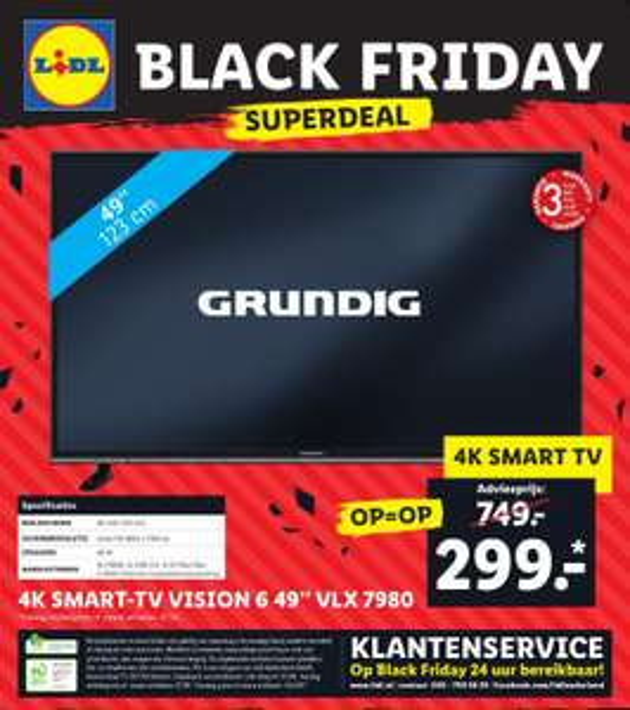 [Black Friday] 49 inch Grundig 4K-televisie @ Lidl