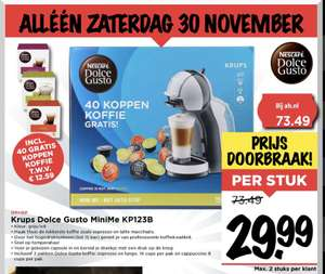 Krups Dolce Gusto MiniMe Kp123b (met auto stop!)