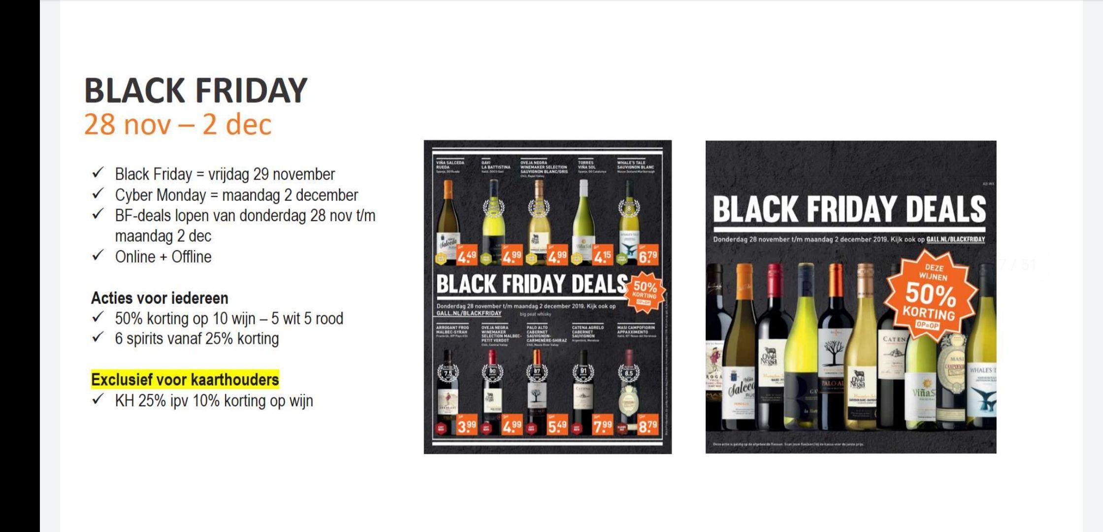 Blackfriday deals Gall&Gall
