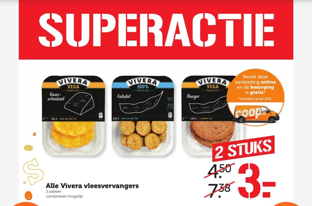 Vivera 2 pakjes voor €3 bij Coop