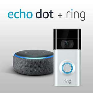 Ring Video Doorbell 2 + Echo Dot (met of zonder deurspion) @Amazon