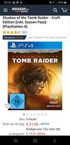 PS4, Tomb Raider, Shadow of the Tomb Raider (Croft Edition) dus incl season pass