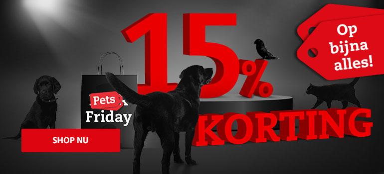 [Alleen vandaag 22/11] 15% korting op bijna alles + 10% extra korting @ Pets Place webshop