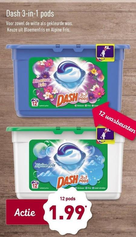 (ALLEEN IN WINKEL) Dash 12 pods voor €2,00