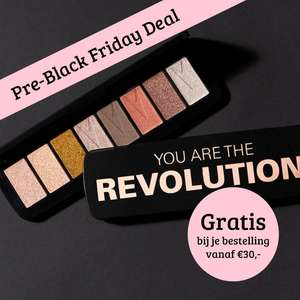 GRATIS You Are The Revolution palette t.w.v. €6,95 (va €30) @ Boozyshop
