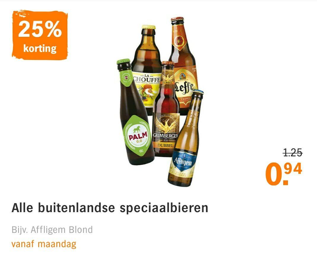 [Vanaf maandag] 25% korting op alle buitenlandse speciaalbieren @ Albert Heijn