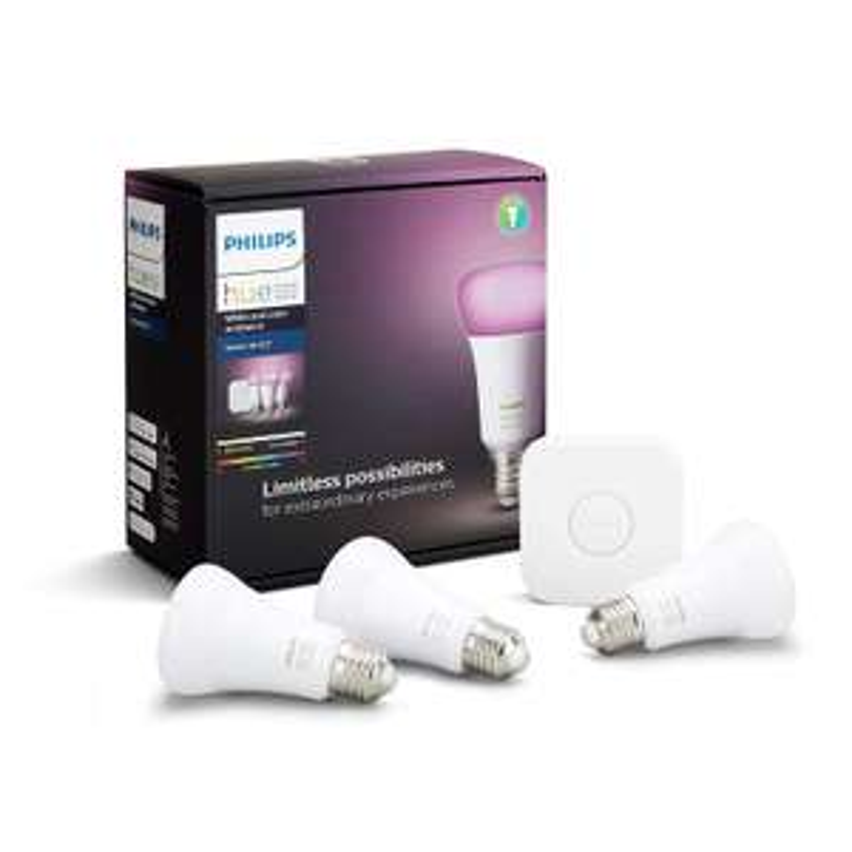 Philips Hue White and Colour 3x E27 + hub @Amazon.co.uk