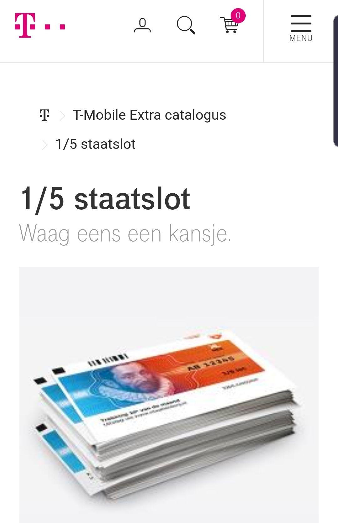 1/5 staatslot voor 355 my t-mobile punten