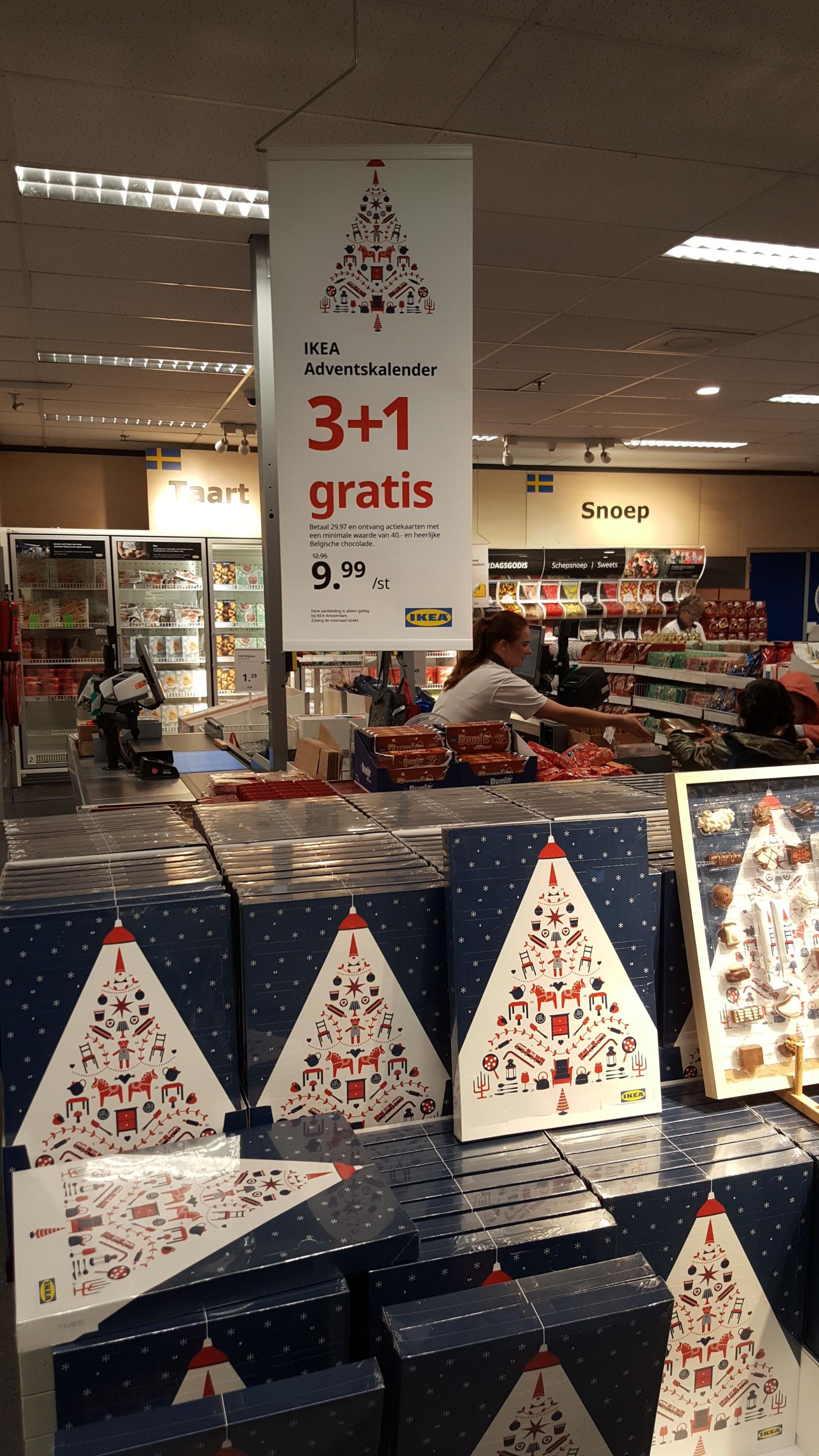 Ikea advents kalender nu landelijk 2+1 gratis
