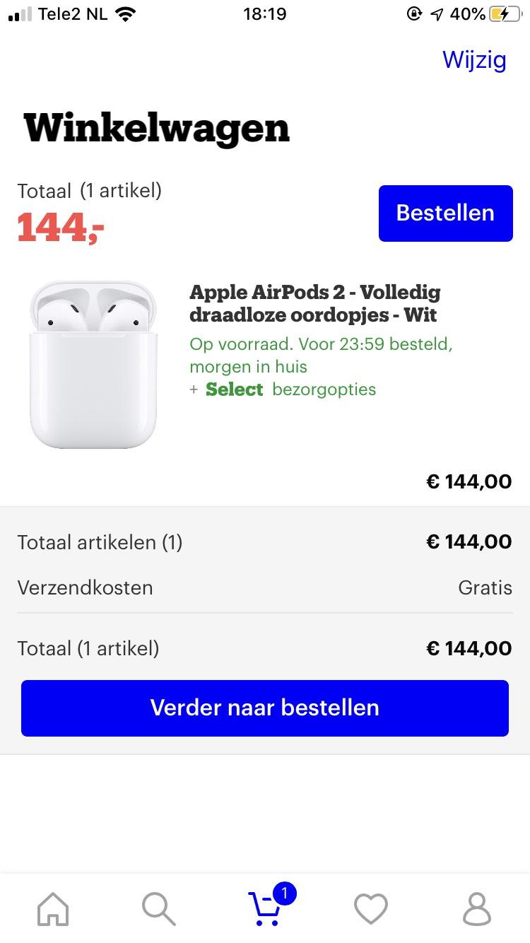 Apple Airpods 2 bij Bol.com icm Select