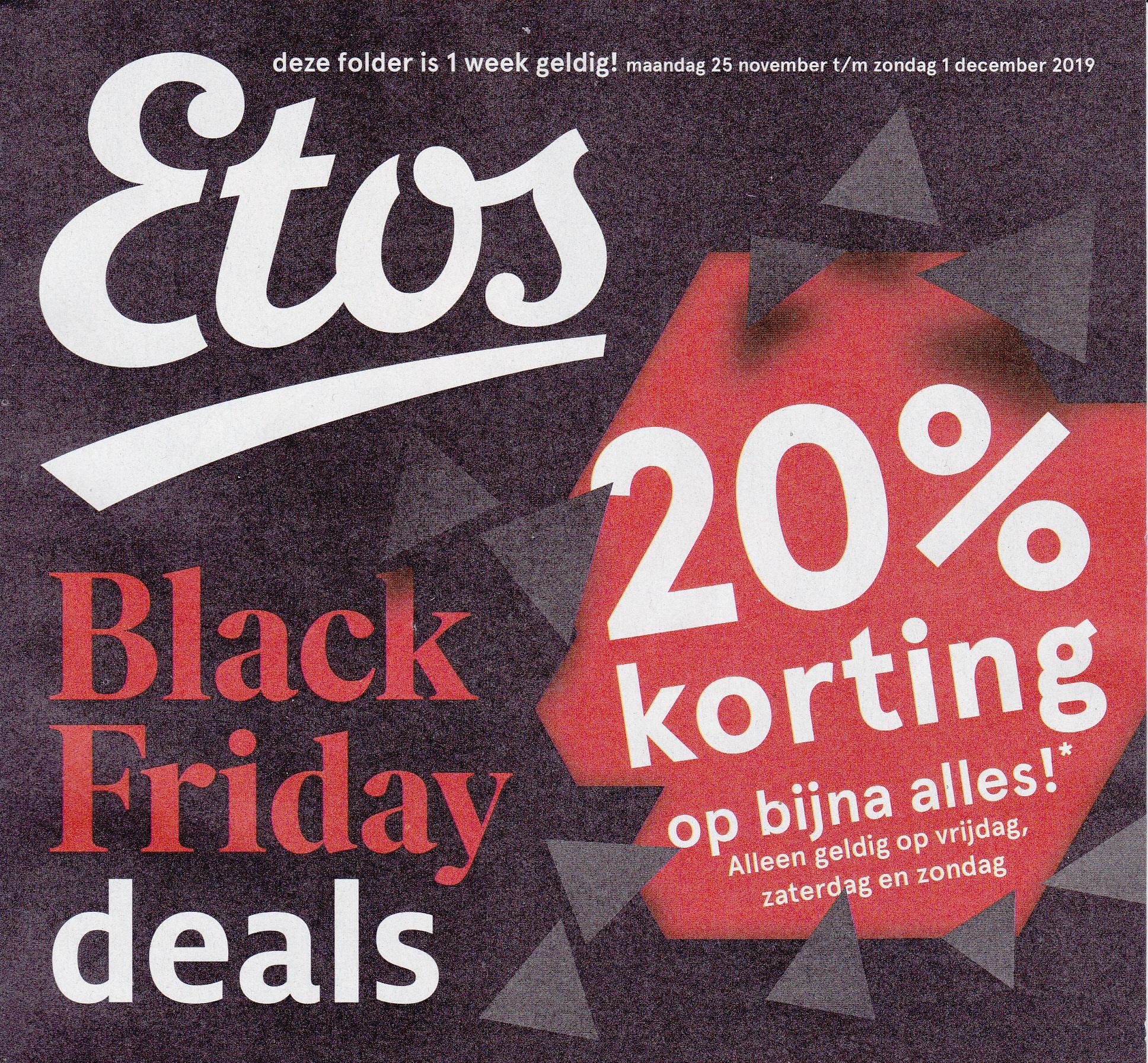 20% korting op bijna alles* @ Etos