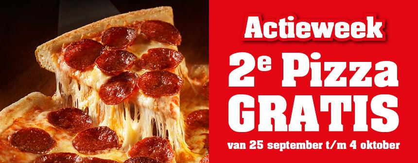 2e 25cm pizza en 2e Ben & Jerry's gratis van 25 t/m 4 oktober @ New York Pizza