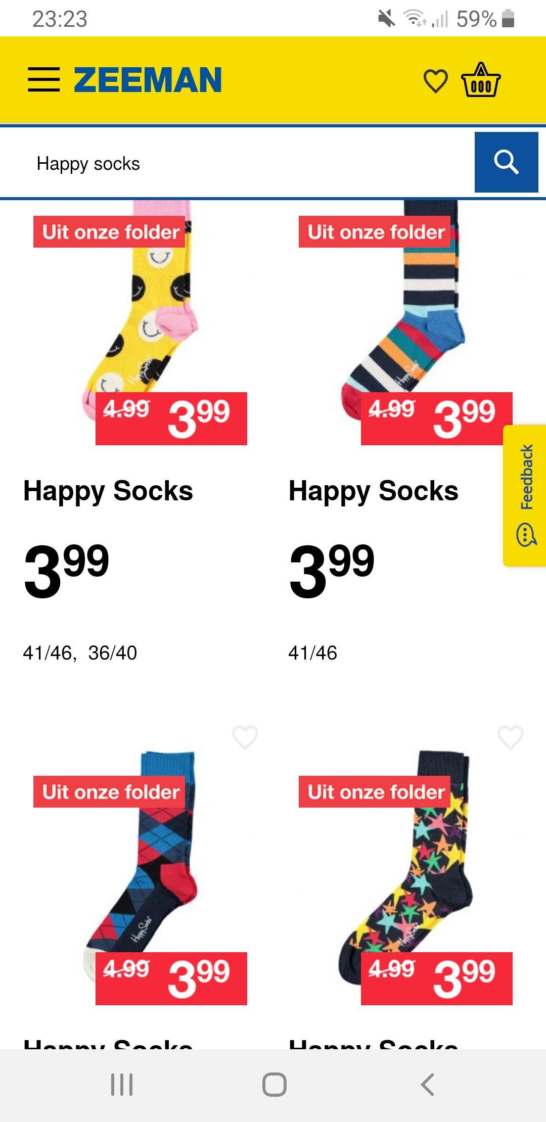 Happy socks voor 3.99 bij zeeman