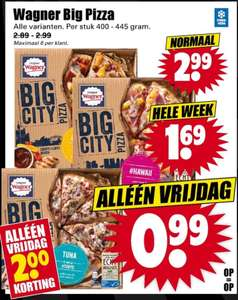 Wagner Big Pizza voor €0,99 [Dirk Black Friday Deal]