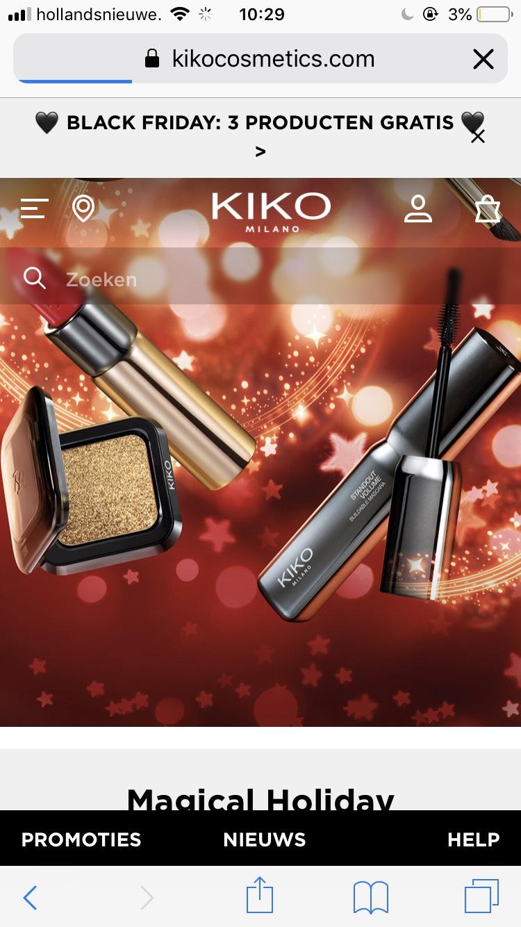 3 kopen + 3 gratis bij KIKO