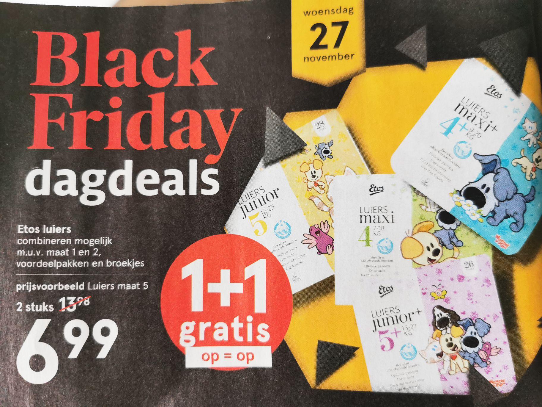 Etos Black Friday Deal: Luiers 1 + 1 gratis op 27-11 [Dagdeal]