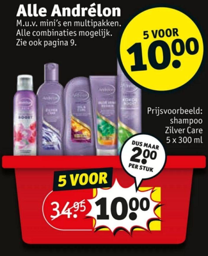 [Tot 78% korting] 5 voor €10,- op ALLE Andrelon producten @Kruidvat