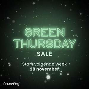 28 nov.: Green Thursday SALE [Tot 70% korting] @ Afterpay.nl