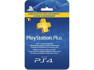 media markt Belgie playstation plus 12 maand